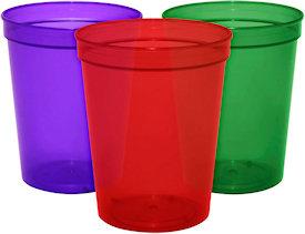 16oz Blank Translucent Stadium Cups Custom Stadium Cups